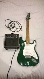 Guitar, amp, lead and pic