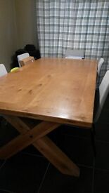Solid Wood Farmhouse Dining Table, Large. Seats 6-10