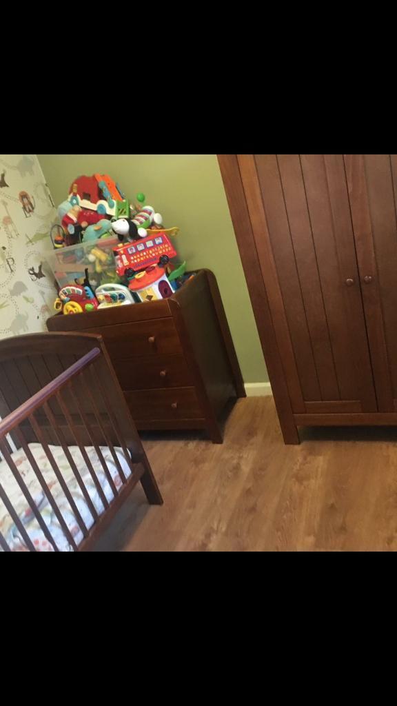 Mama & papas 3 piece nursery furniture