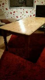 Large chunky Pine table
