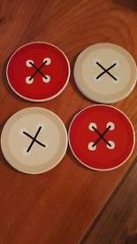 Ceramic button coasters