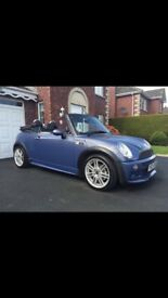 Very rare 2004 cool blue Mini Cooper convertible