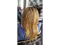 Afro-Caribbean, European and Asian hairdresser we do weave/cornrow/crochet/braids/single plait/wigs