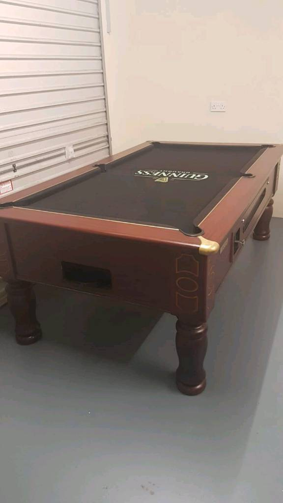 Ft X Ft Ascot Slate Bed Pool Table With Guinness Logo Cloth In - Guinness pool table