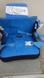Travel booster seat with harness. RRP £40