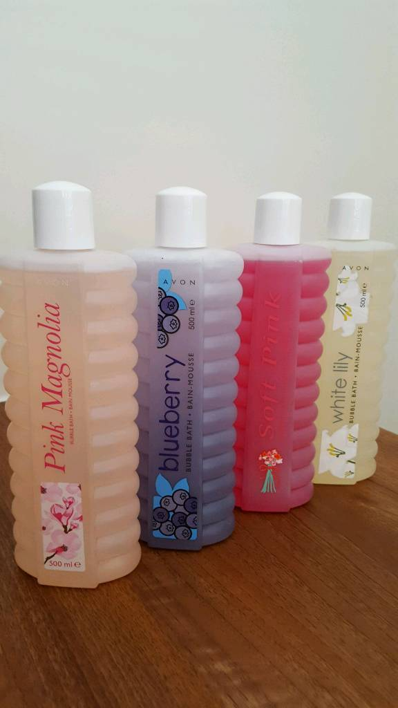 Set of 4 lovely fragrances 500ml Avon bubble bath set