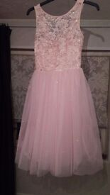 **Stunning pink sequin prom dress from quiz **