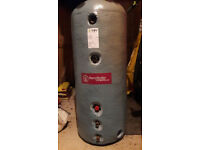 180L dual coil insulated copper hot water tank with immersion heating coil unused