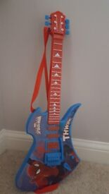 Kids electric spiderman guitar
