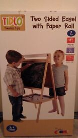 Kids Two sided easel with paper roll BNIB