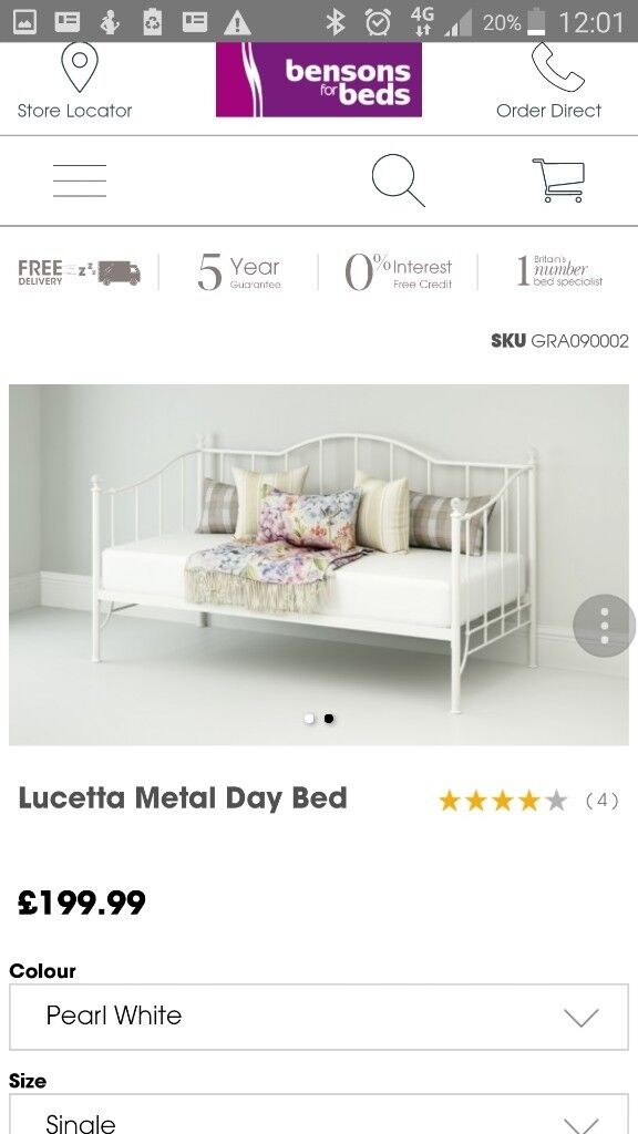 Bensons for beds girls day bed brand new in box wouldnt fit in daughters room