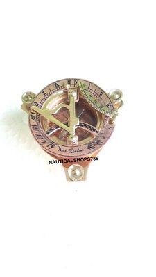 Maritime Copper & Brass Nautical Vintage Sundial Compass