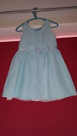 Baby blue F+F girls dress