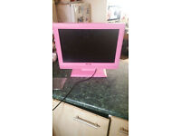 ACOUSTIC SOLUTIONS PINK TV with remote