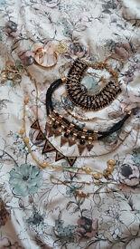 Jewellery - job lot of necklaces, bracelets, rings.