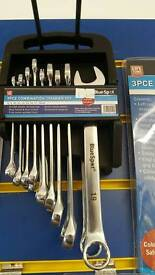 9pc combination spanner set