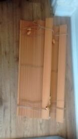 2x Wooden Venetian Blinds
