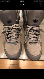 Grey adidas trainers
