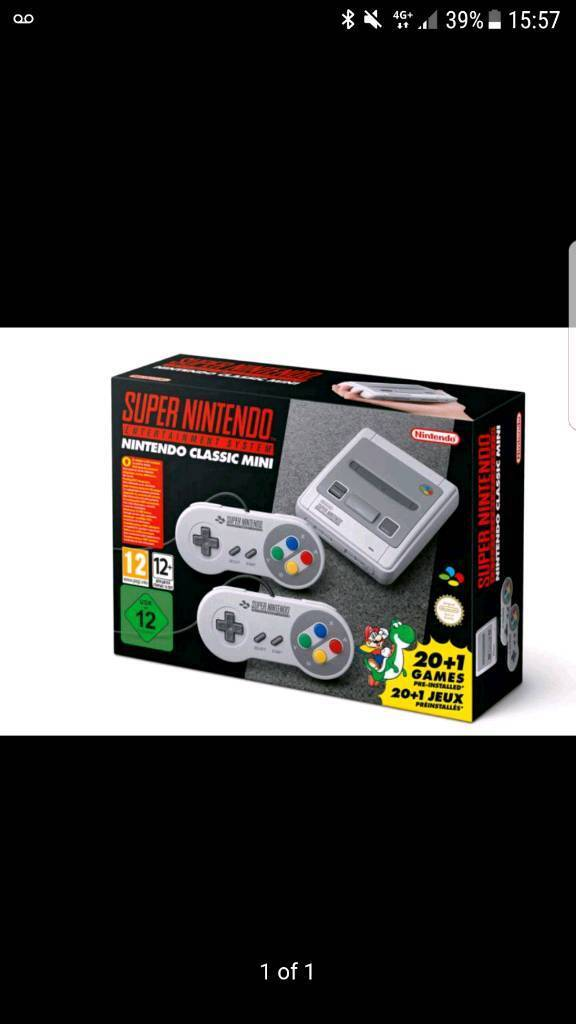 SNES mini classic. UK new