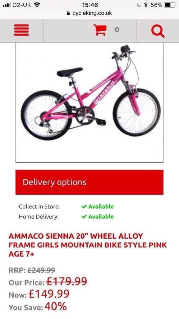 "Ammaco sienna 20"" girls bike"
