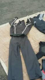 Dry suit wet suit small . Fridge small table with 1 chair