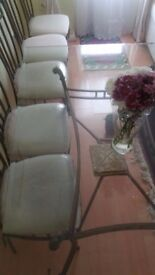 Dining Table and x6 Chair Set, very good condition