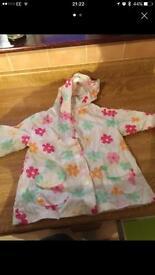 Girls foldable rain jacket 9-12m