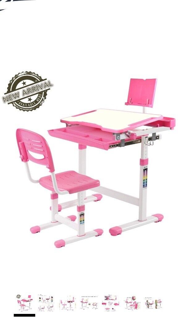 Children Desk Chair Set Height Adjule Kids Study Workstation Ergonomic S Table