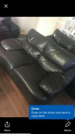 Brown leather sofa good condition
