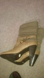 64b701cf00e Ladies Boots size 6 (Hardly worn - see photos) 7cm heels