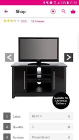 Black tv stand hold tv upto 42 inch