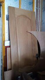 White oak slimline door