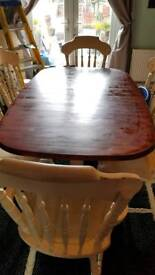 Solid wooddining table and chairs