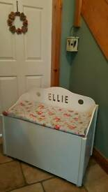 Monk's Bench Painted in Soft Cream- Ellie Cut out in it