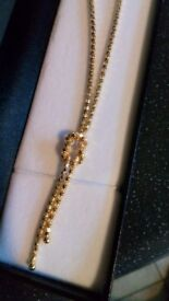 Gold pladed knot neckess