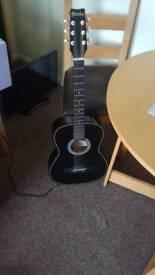Yinbo 3/4 black guitar