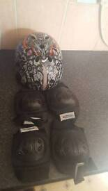 Helmet and pads for sale