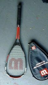 Wilson titanium racket and case as new £9.99