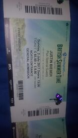 Justin Bieber Tickets for 2nd July Hyde Park!!
