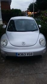 VW BEETLE SILVER 2.0 LTR FOR SALE £600 ONO