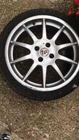Wheels 17inch over 6 mm on all tyres one with 7.5 mm
