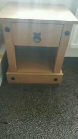 Hardwood bedside cabinet