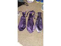 3 × mens cadburys purple silk cravats
