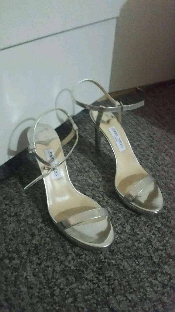 Jimmy Choo nude satin heels 40.5 size worn twice