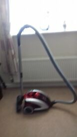 Vacuum Cleaner. Hoover Curve Silver/red cylinder cleaner good condition lightweight hardly used
