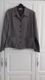 Wallis waist length brown speckled jacket size 12.