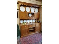 solid pine kitchen dresser with drawers, country farmhouse all dovetail
