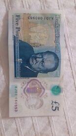 Rare £5 note *Anthony Joshua*
