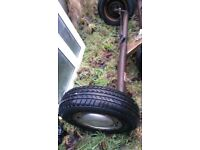 trailer axle 4 stud and brake good condition ready to go