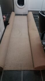 Cream hessan backed carpet
